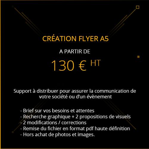 tarif création flyer A5 publicitaire