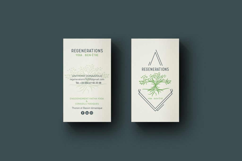 cartes de visite logo design yoga branding business